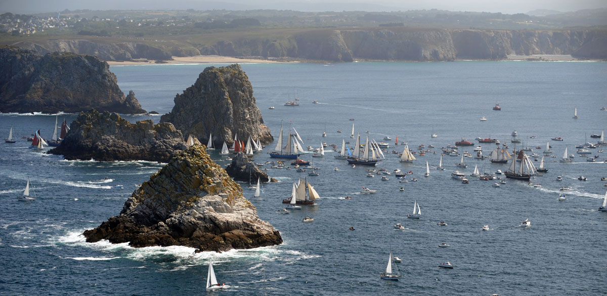 Sailboats parade on July 19, 2012 in the