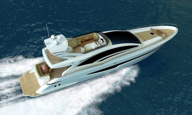 Motor yacht with flybridge